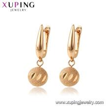 96970 xuping cobre ambiental gota de ouro banhado brinco mulheres