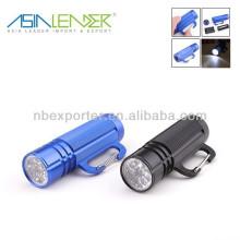9 led aluminum alloy flashlight