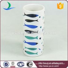 YSb40087-01-t décalque de poisson en marbre accessoires de salle de bains en céramique pour maison et hôtel