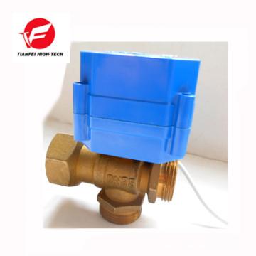 12V 24V brass DN15 DN20 CWX-60P 6NM electric 3 way control valve