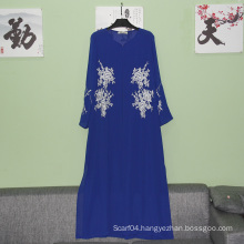 Top fashion long lined sleeves new model dubai abaya 2016