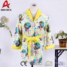 Cute hooded fleece bathrobe children's pajamas sleepwear for kids