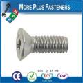 Fabriqué en Taiwan ISO 7046 Philips Flat Countersunk Head Machine Screw Acier à faible teneur en carbone Zinc plaqué