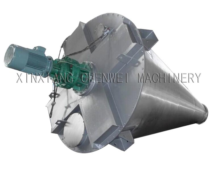 Double screw cone mixer
