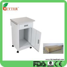 Cabinet de chevet d'une porte et d'un tiroir pour hôpitaux