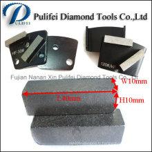 Segment de meulage de surface de plancher en béton Segment de meulage de diamant pour la garniture en métal
