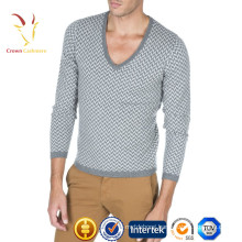 High quality Pure Cashmere V Neck Thin Sweater for Men
