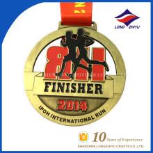 Medalha de Maratona de Metal Personalizada Medalha Internacional Medalha de Desporto Medalha