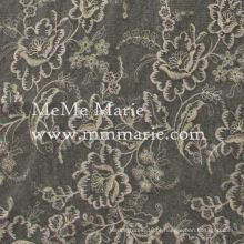 Elegante enfeite de bordado de ouro com rendas de renda rosa para vestuário e cortina CT397E