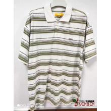 Camisas 100% algodão YD Jacquard de manga curta