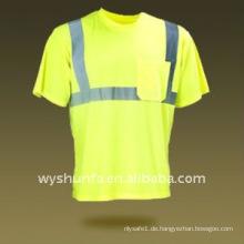 Sicherheit T-Shirt / Hoch sichtbares Hemd