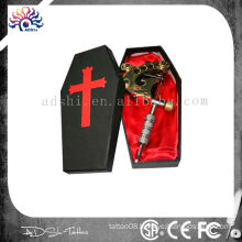 Black Coffin Tattoo Machine/Gun Carry Case With Red Satin