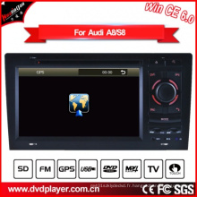 Windows Ce Auto DVD GPS pour Audi A8 / S8 Radio Navigatior Hualingan