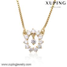 41718-collier de bijoux fantaisie en or 14k avec cristaux chunky