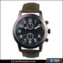 Reloj deportivo pulsera de cuero para hombre