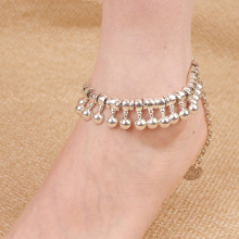 Retro Metal Coin Drops Personality Exaggerated Fringed Anklets