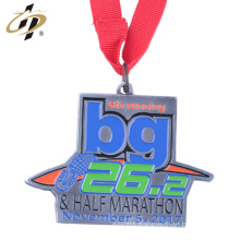 Metal cheap custom marathon running medals from china