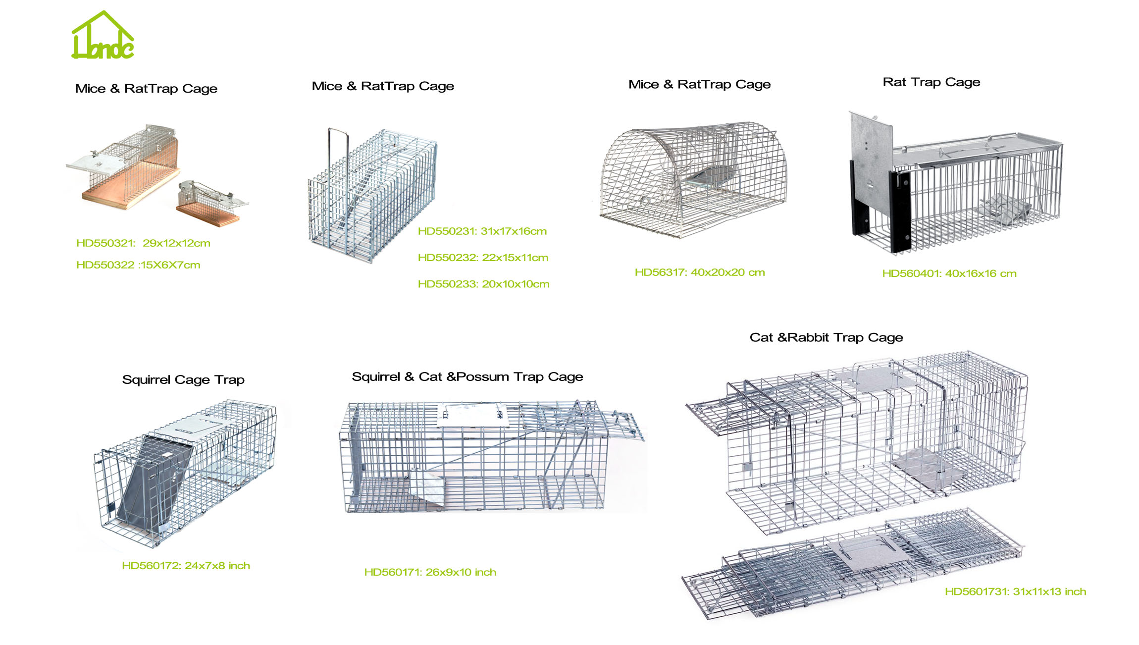 cage trap for rat and rabbit