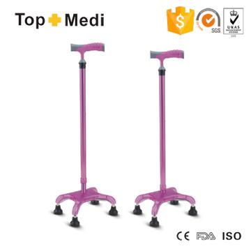 Topmedi Rehabilitation Lightwetight Aluminium Walking Quadripod Cane