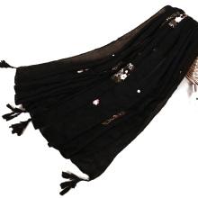 TINGYU Оптовая мусульманской Малайзии женщины Леди девушка сплошной Цвет хиджаб шарф