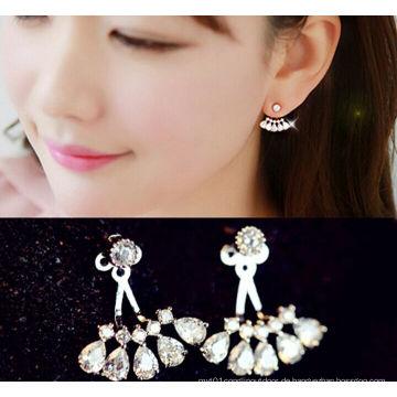 Mode Zirkonia Silber Diamant Stud Schmuck baumeln Ohrringe Schmuck