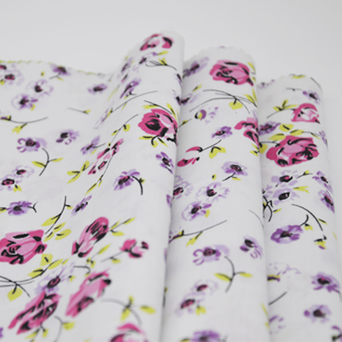 Polyester Cotton Floral Print Fabric