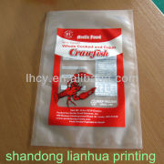 plastic bag for frozen food seafood exported bag