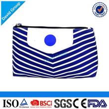 Proveedor superior Nuevo logotipo de la llegada de la promoción de la impresión Regalo Bolsas de cosméticos de algodón liso