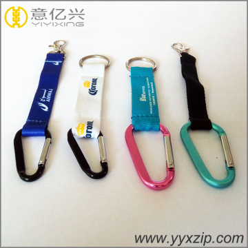 cheap Custom Printed logo Carabiner key chain