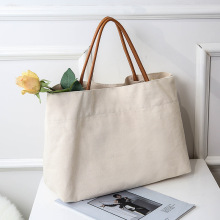 Benutzerdefinierte leere Baumwolle Canvas Shopping Tote Bag