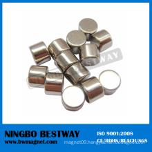 N52 D10x8mm Cylinder NdFeB Magnet w/Ni coating