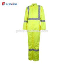 Bata reflectante durable del trabajador de construcción material