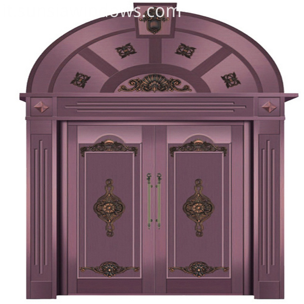 red copper front door
