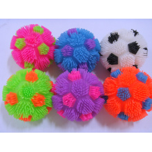 Neon Color Rainbow Soccer Puffer Ball