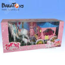 Deux couleurs de cheval de jouet pour enfant, grand et plastique