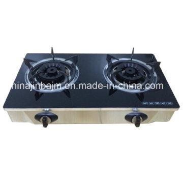 2 brûleurs en verre trempé en laiton 120mm cuisinière à laiton / cuisinière à gaz