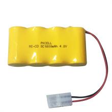 Paquete de baterías recargables de 4.8V NICD SC1800