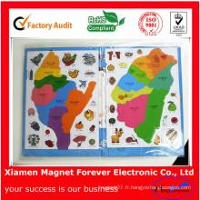 Cadeau pour les enfants Jigsaw magnétique en caoutchouc flexible