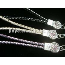 fashion neck lether braided lanyard