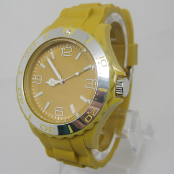 New Environmental Protection Japan Movement Plastic Fashion Watch Sj073-11