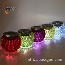 1 warm white light Amorphous solar panel indoor decorative glass metal pendant light
