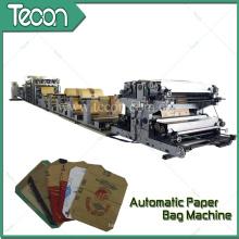 Bolsa de papel Kraft de impresión de cuatro colores de alta tecnología que hace la máquina