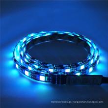 Luz de tira preta flexível impermeável do diodo emissor de luz do PWB da CC 12V IP65 60LED / M SMD 5050 RGBW