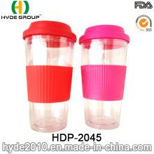 16oz Durable BPA Free Plastic Travel Coffee Mug (HDP-2045)