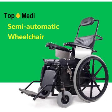 Suministros de terapia de rehabilitación Topmedi Sillas de ruedas de pie semiautomáticas médicas