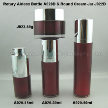 15ml 30ml 50ml Rotary Press Airless Flasche