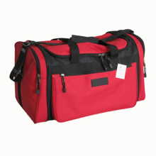 red color travelling duffle bag with big size and high qua