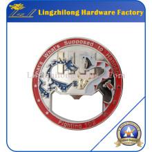 Ouvreur de métal rond personnalisé en forme de pièce de monnaie