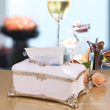 2016 Atacado Craft Resin Antler Artificial Tissue Paper Box Resin Decorative Statue