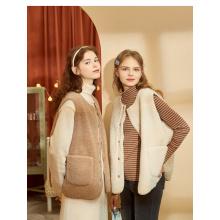 girls fake fox fur vest fashion